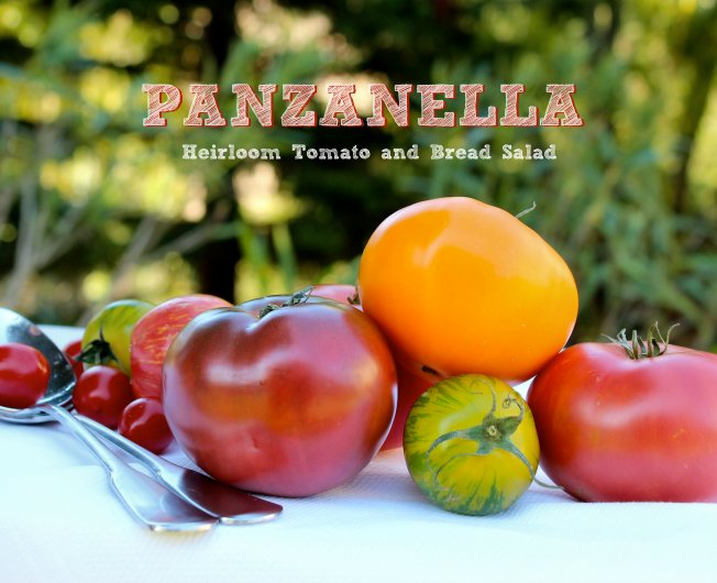 Ripe heirloom tomatoes make the best panzanella salad
