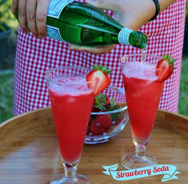 Delicious homemade Strawberry Soda