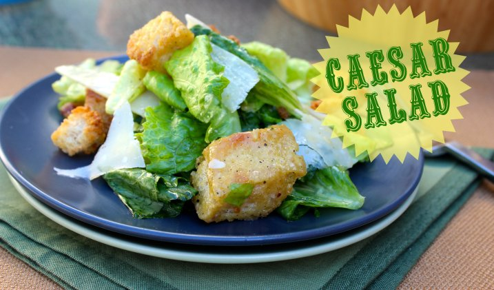 Classic Caesar Salad with Homemade Croutons. Dear Martini