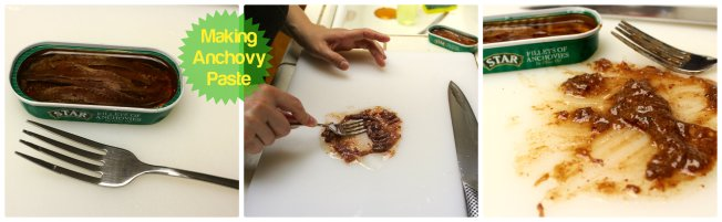 How to Make Anchovy Paste for Caesar Salads or Pasta Sauces.  Dear Martini