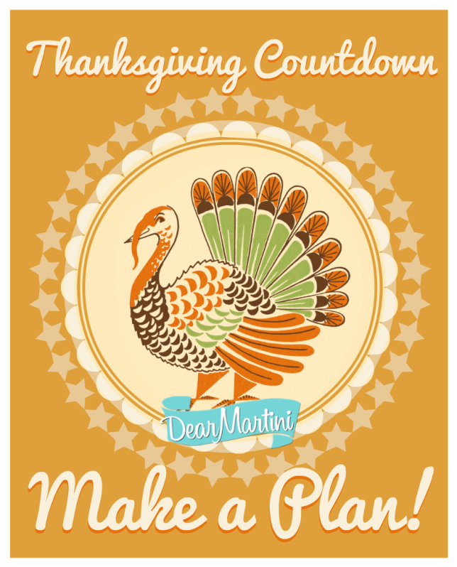 Thanksgiving Countdown with Dear Martini