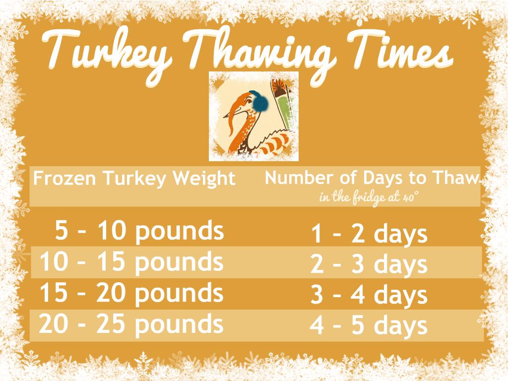 How Long Does It Take To Thaw A Frozen Turkey Dear Martini
